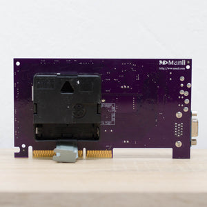 Desk clock - Recycled slim graphics card clock, unique office clock, purple circuit board