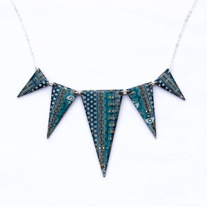 Statement circuit board necklace