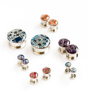 Steel plugs with Circuit board (custom sizes)