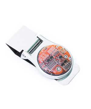 Round Circuit Board Money Clip