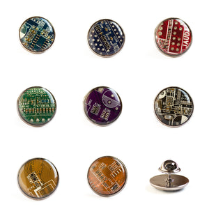 Circuit board tie pin (antique silver)