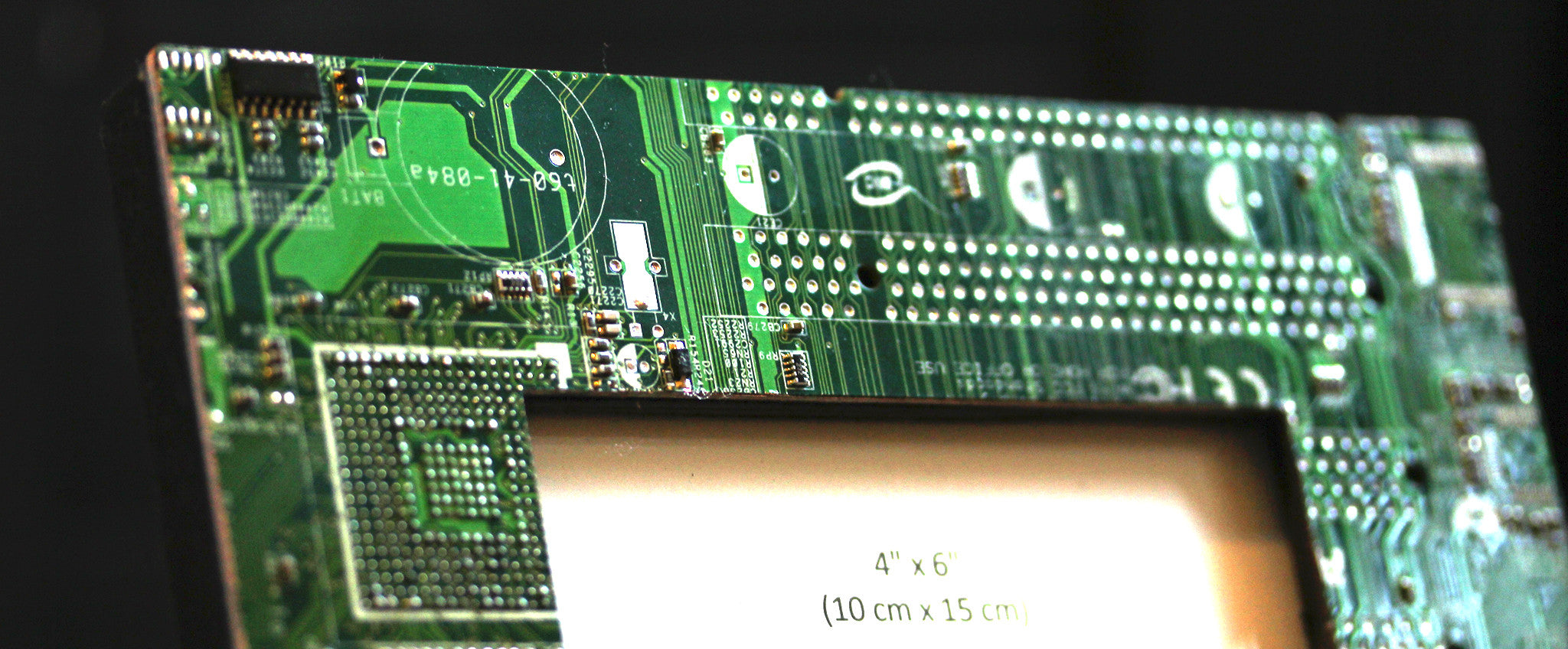 Circuit board picture frame