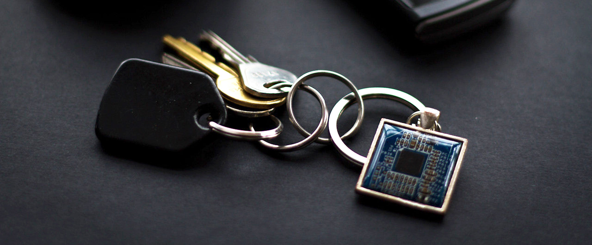 Men's keychain made of circuit board