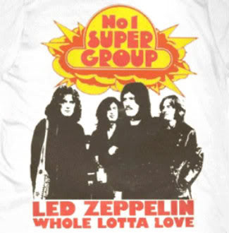 Led Zeppelin 'No. 1 Supergroup' White Big Mens T-Shirt (2X)