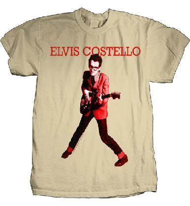 Elvis Costello 'My Aim Is True' Light Brown T-Shirt (X-Large)