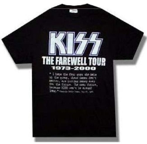 KISS T-shirt Farewell Tour silver metallic tee (Medium)