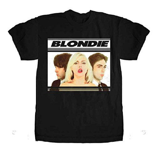 Blondie Hot Lips Men's Slimfit T-Shirt, Black