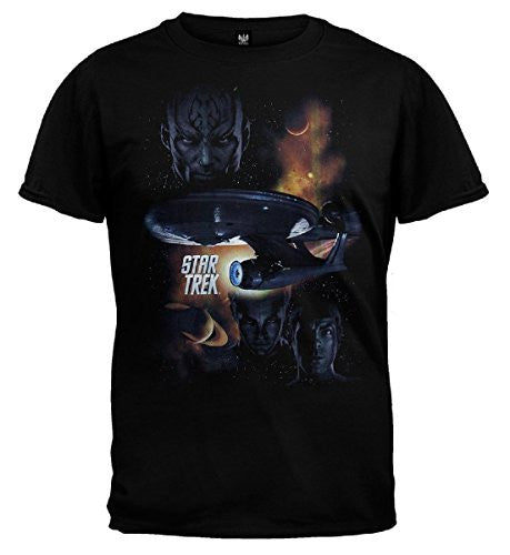 Star Trek XI 2009 Movie 'Galactic Struggle' Black T-shirt