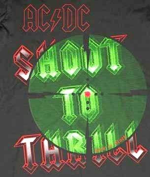 AC/DC Shooters Women's / Juniors T-shirt, Black (Medium)