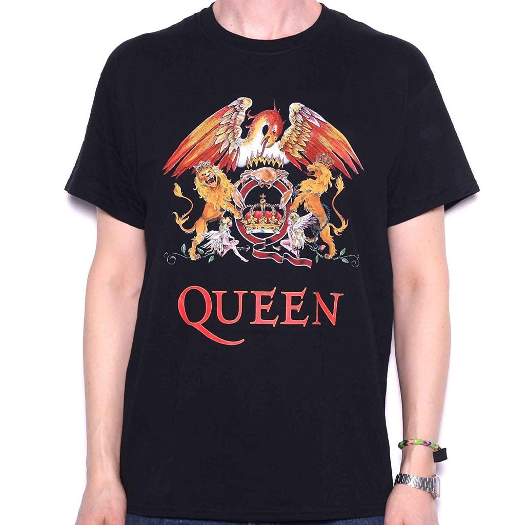 Queen Classic Crest Men's T-shirt, Black (2X)
