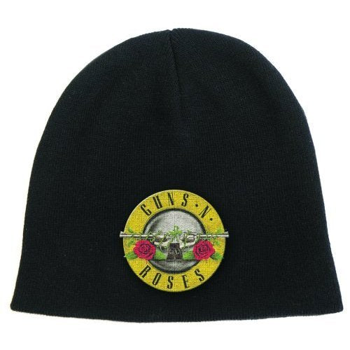 Guns N Roses Logo Embroidered Beanie 2-Sided Black Skully
