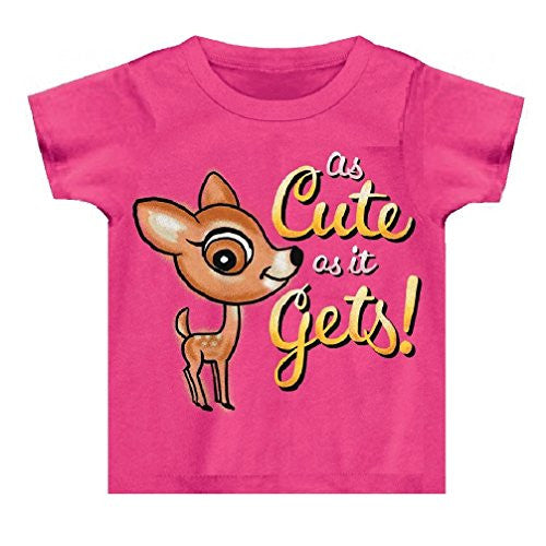 Buck Wear Cute As It Gets Baby Tee, Pink