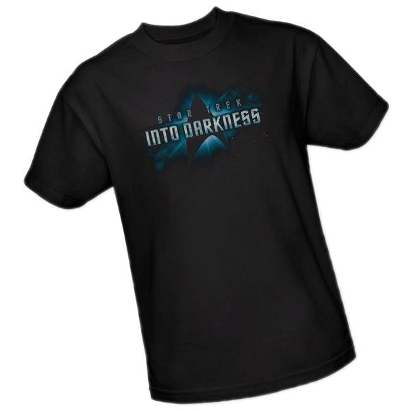 Star Trek Into Darkness Movie Logo Boys T-Shirt, Youth Large