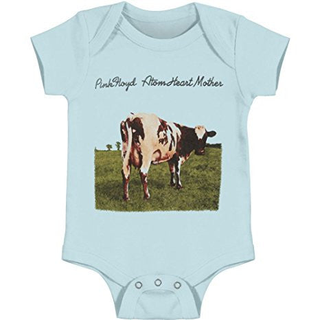 Pink Floyd Baby Boys' Atom Heart Cow Bodysuit, Light Blue (6 Months)