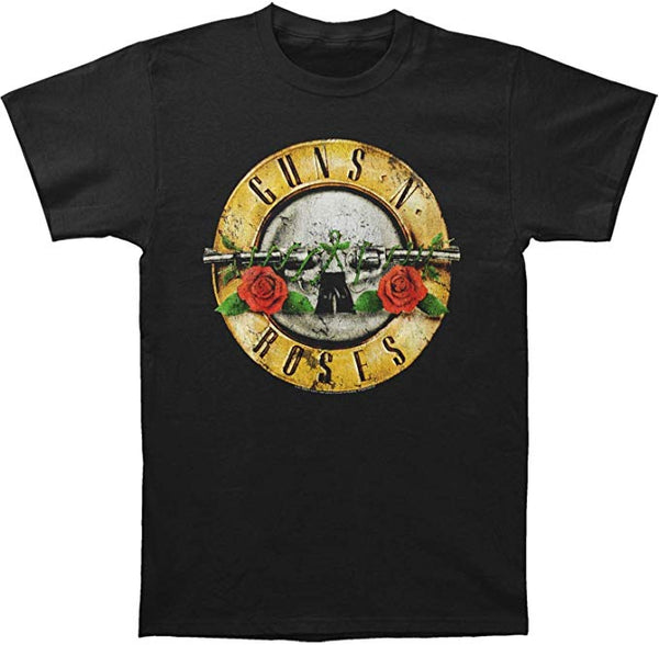 Guns N Roses Distressed Bullet Black T-Shirt