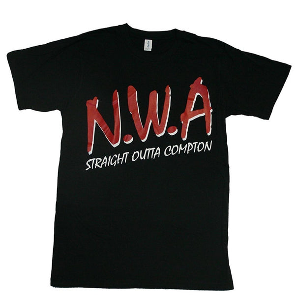 N.W.A. Classic Logo Straight Outta Compton Men's T-shirt (X-Large)