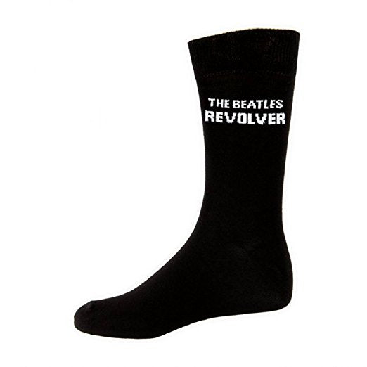 Beatles Revolver Logo Mens Black Socks (Size 7-11)