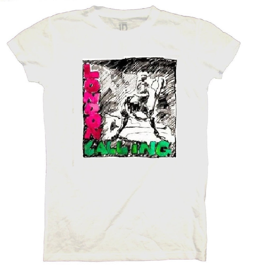 Clash 'Sketch' London Calling Juniors White Tee (X-Large)