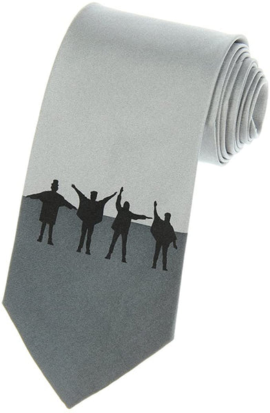 Beatles Necktie Men's Silk Tie (Grey - Help!)