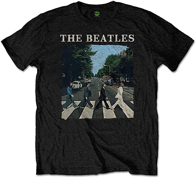 The Beatles Abbey Road Youth Boys T-Shirt, Black