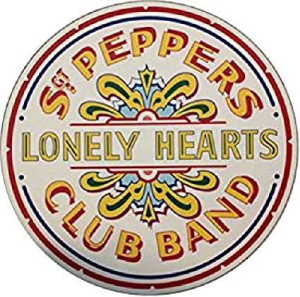 Beatles Sgt Pepper's Lonely Hearts Drum Logo Computer Mousepad Mouse Mat