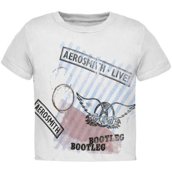 Aerosmith 'Bootleg' Toddler T-shirt, White (Large / 4T)