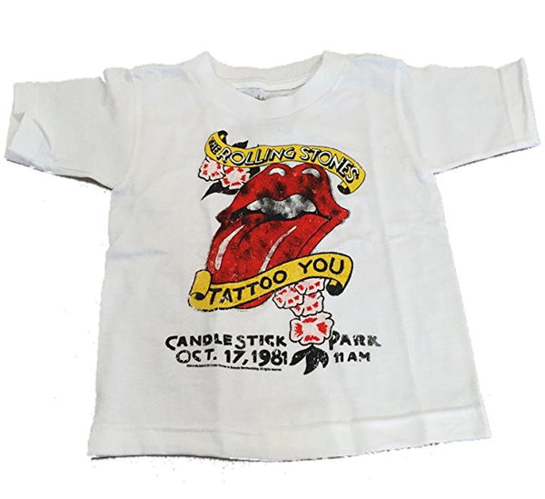 Rolling Stones Tattoo You Little Boy's Toddler Tee, White (2T)