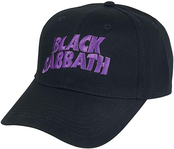 Black Sabbath Embroidered Logo Mens Baseball Cap