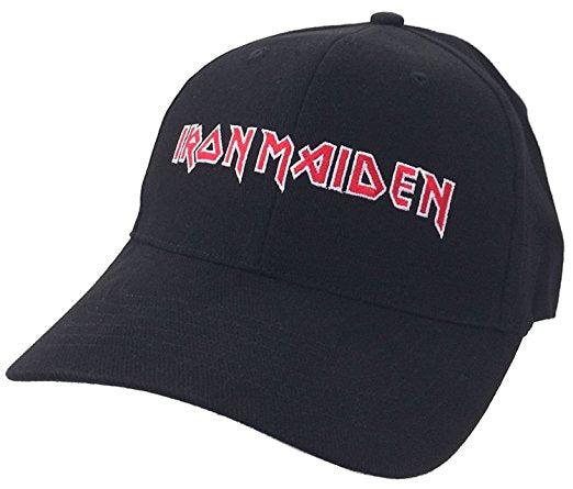 Iron Maiden Classic Logo Fear Of Dark Men's Embroidered Baseball Hat