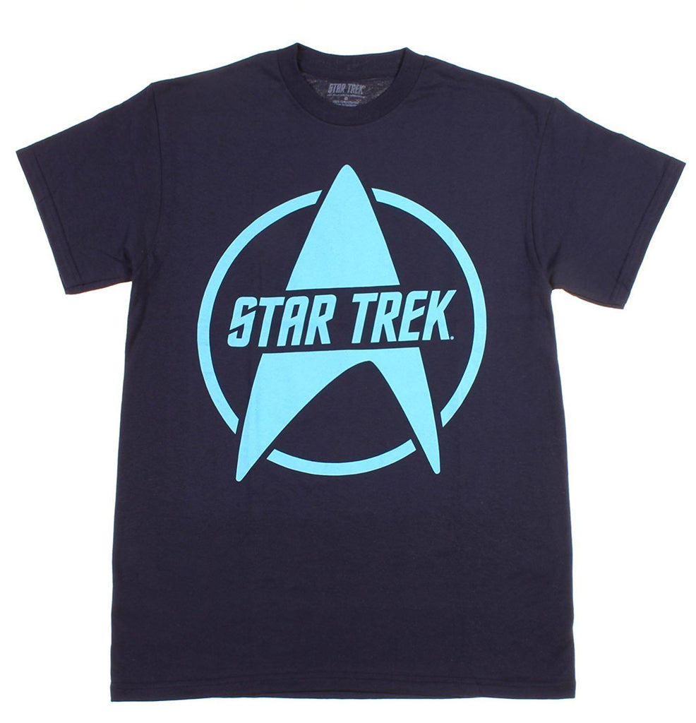 Star Trek Logo Navy T-Shirt (Small)