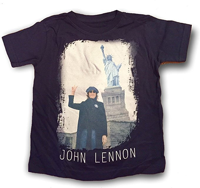 John Lennon Peace Liberty Navy Blue Little Boy's Tee (3T)
