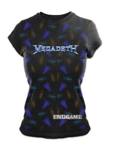 Megadeth 'Endgame' Women's / Juniors black lightweight t-shirt (Large-Juniors)