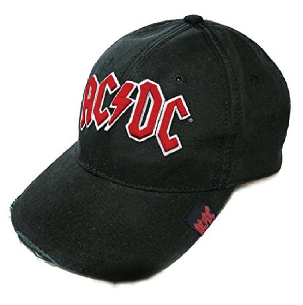 AC/DC Baseball Cap Red on White Distressed Men's Hat