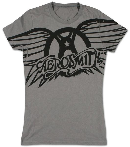 Aerosmith - Winged Logo Juniors (Slim) T-Shirt , Large