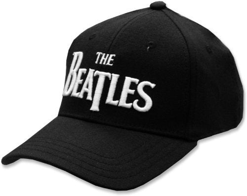 The Beatles Baseball Cap Dropped T Logo Embroidered Hat, Black