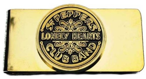 Beatles Money Clip Sgt Pepper Drum Gold Metal Clip