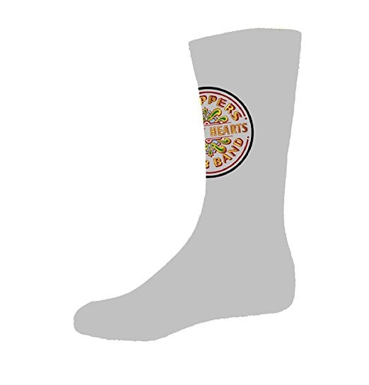 Beatles Sgt Pepper Drum Logo Womens Grey Socks ( (US Size 9-11 / Uk Size 4-7)