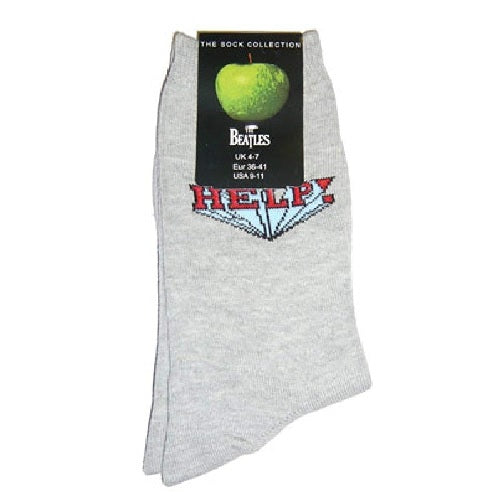 Beatles Help! Womens Grey Socks ( (US Size 9-11 / Uk Size 4-7)