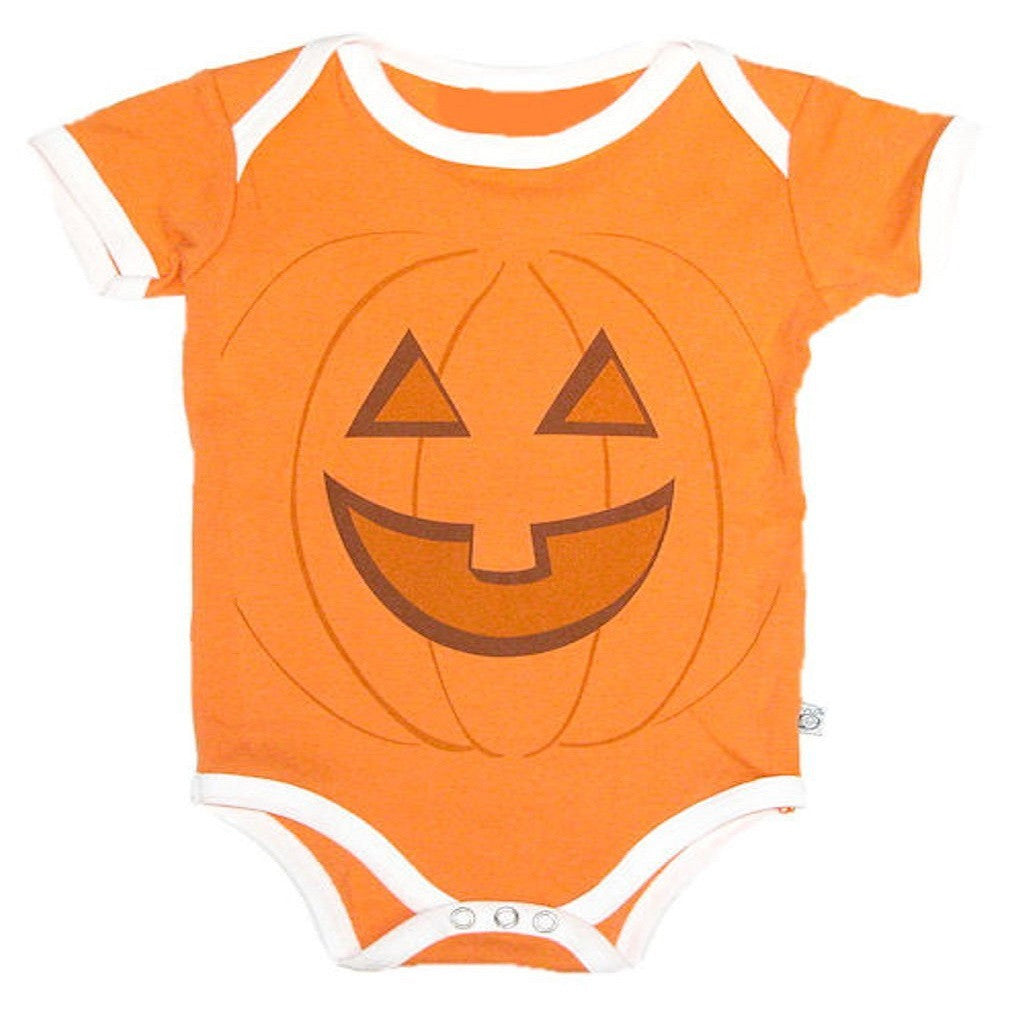 Bee Silly 'Jack-O' Halloween Infant Onesie (12-18 Months)