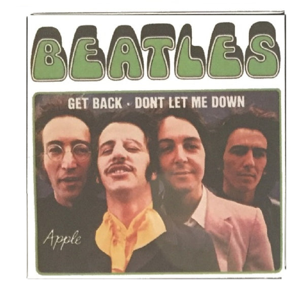 The Beatles Get Back / Don't Let me Down Magnet 3 inch Square