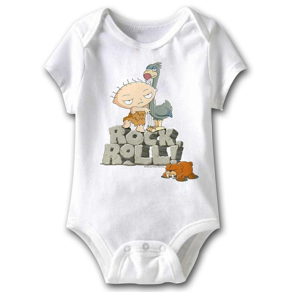 Family Guy Rock, Roll Unisex Baby Romper, 6 Months