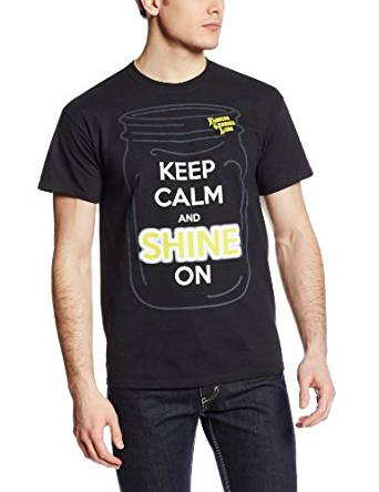 Florida Georgia Line Keep Calm and Shine On Men's T-Shirt, Black,