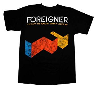 Foreigner I Want To Know What Love Is Logo Men's Vintage T-Shirt