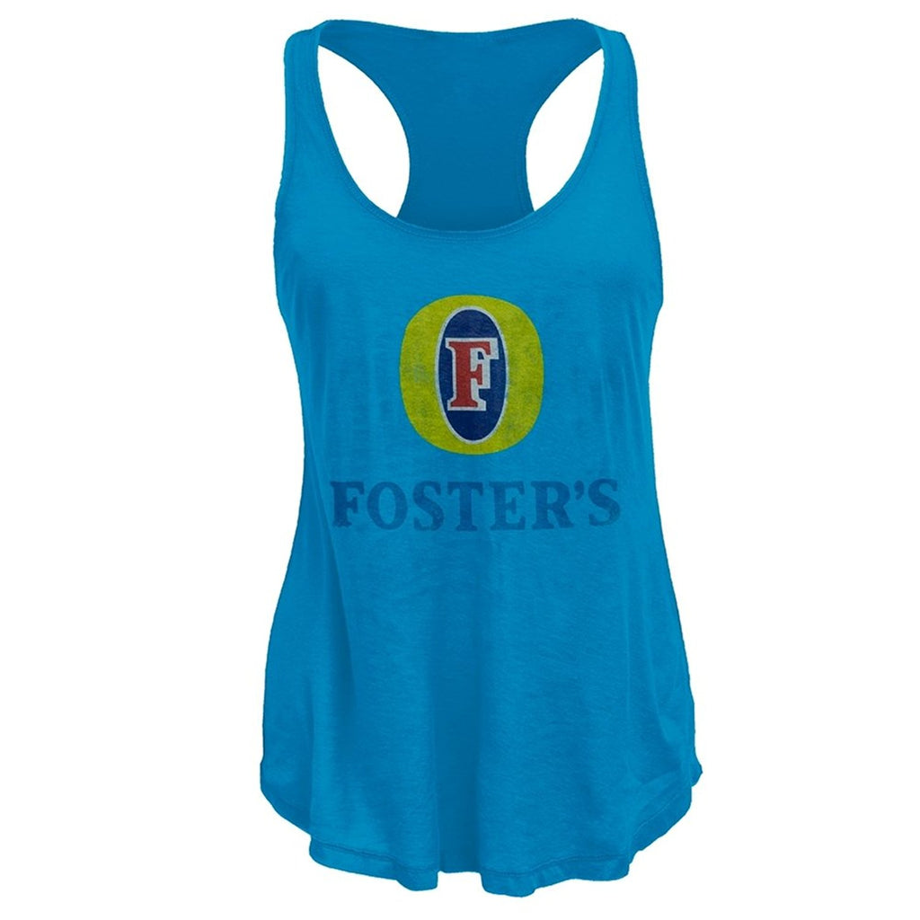 Foster's - Distressed Logo Juniors Tank Top - X-Large