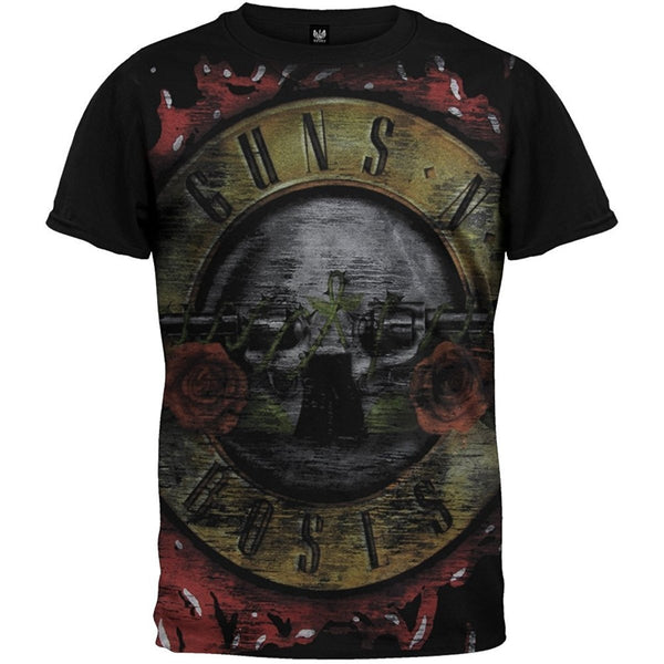 Guns 'N Roses Jumbo Bloody Bullet Distressed T-Shirt