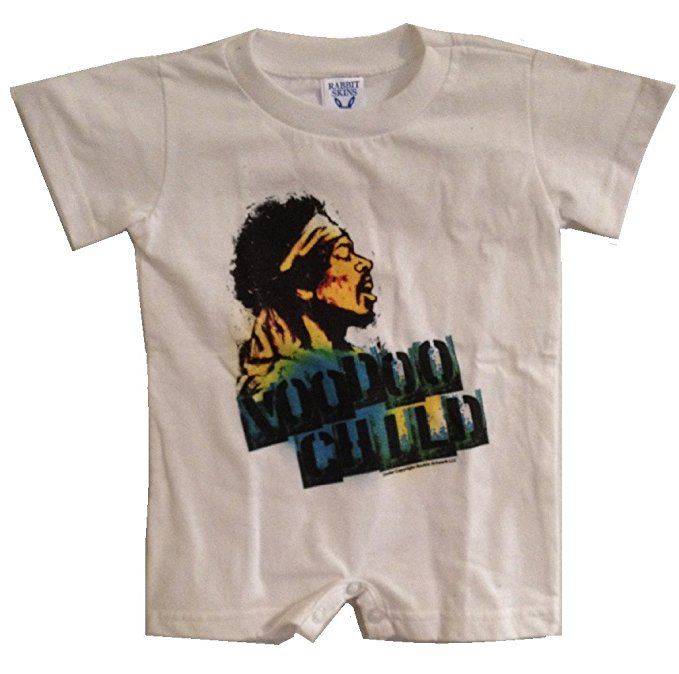 Jimi Hendrix 'Voodoo Child' White Playsuit (6-12 Months)