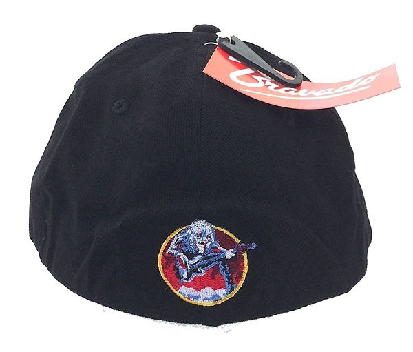 Iron Maiden Classic Logo Fear Of Dark Men's Embroidered Baseball Hat Back