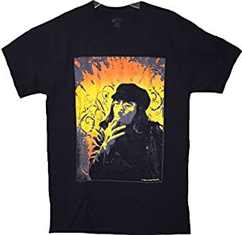 John Lennon 'Smoking' Black T-Shirt (Large)
