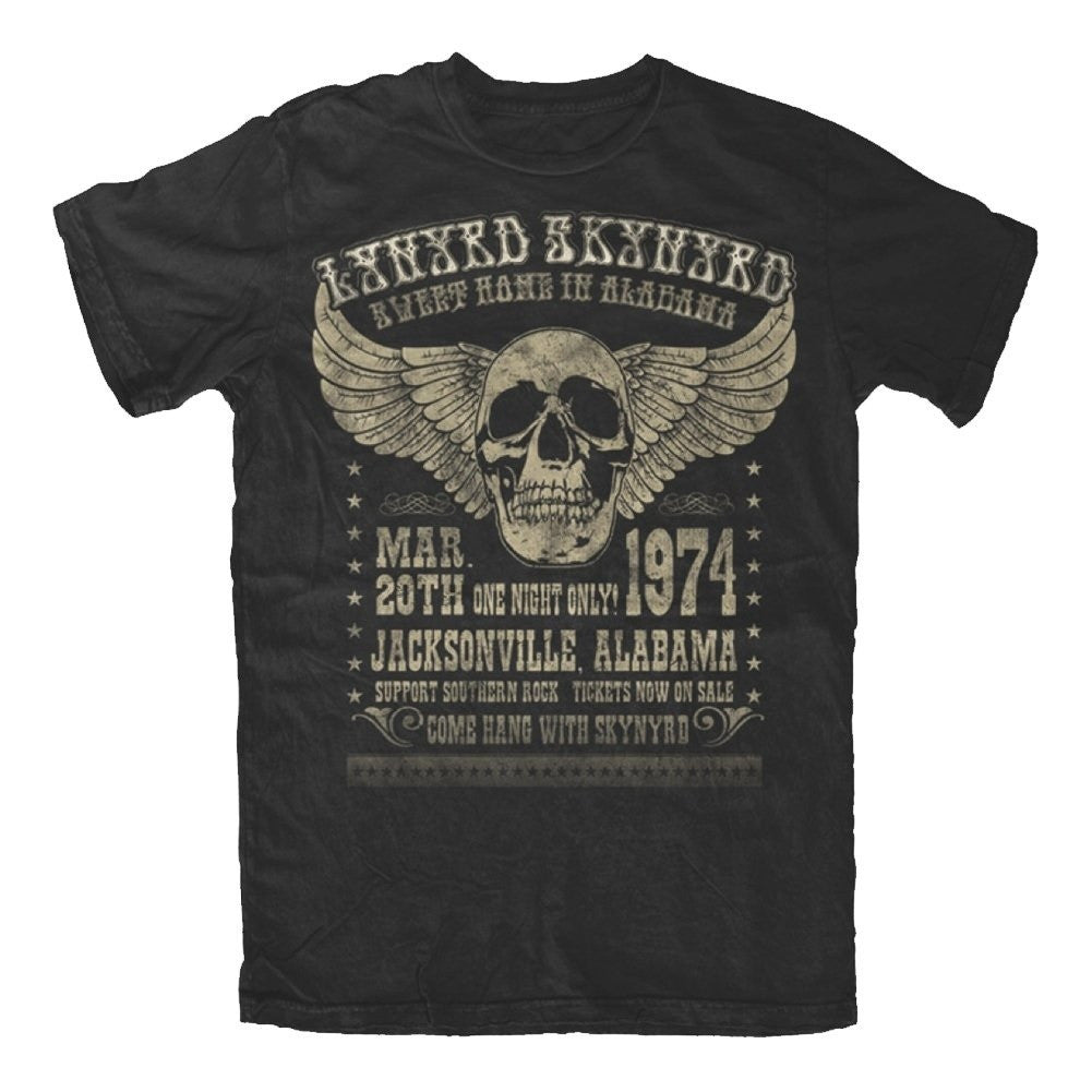 Lynyrd Skynyrd Alabama 74 Men's T-Shirt (X-Large)