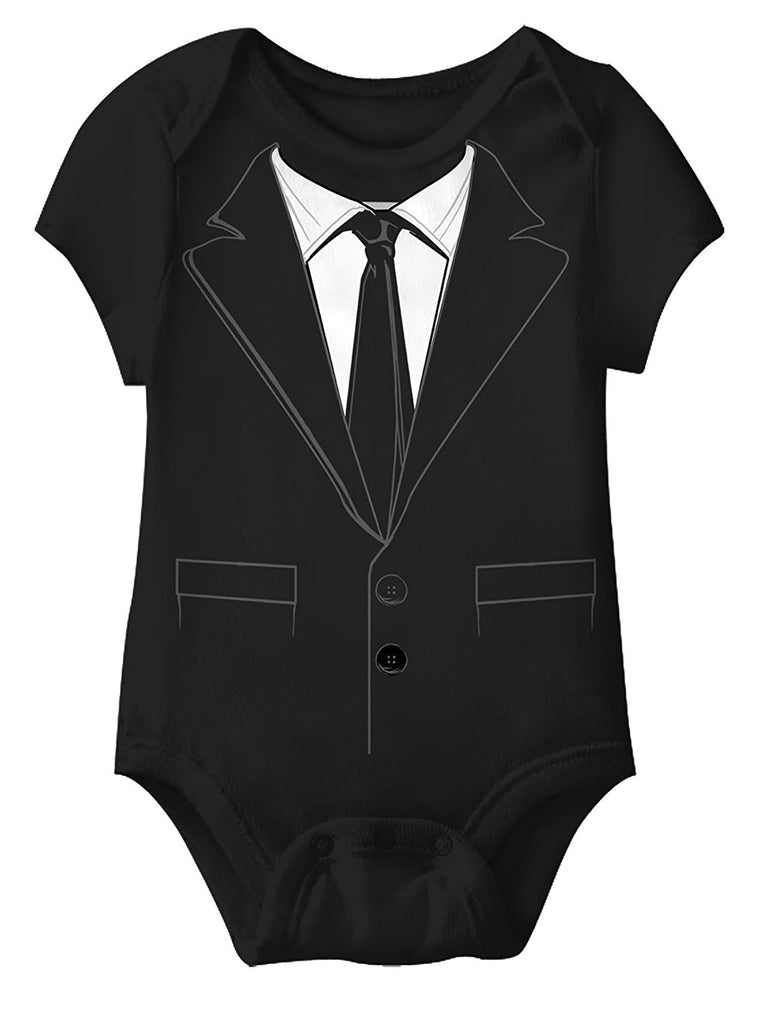 Mad Engine Suity McGee Tuxedo Infants Black 6M